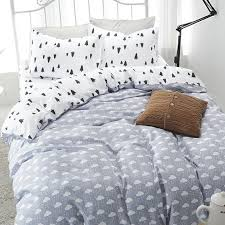 fashion tree cloud printed 100 cotton bedding set edredon bed linen duvet cover set twin full queen size roupa de cama girl bedding blue comforter sets from
