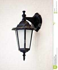 Old Gas Wall Lights Old Vintage Outdoor Lantern Wall Hanging Lamp Stock Photo