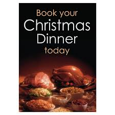 christmas dinner poster book your christmas dinner waterproof poster catersigns limited