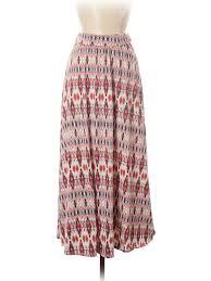 Joe B By Joe Benbasset Casual Skirt Red Print Womens