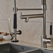 stainless steel bathroom faucets. Senlesen Single Handle Pull Down Kitchen Sink Faucet Commercial Style Pre-rinse In Stainless Steel Brushed Nickel Wet Bar Mixer Tap - Amazon. Bathroom Faucets T