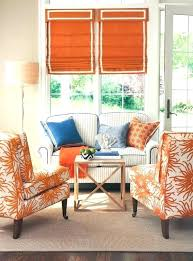 living room with orange and blue accents orange and blue decor blue and orange living room