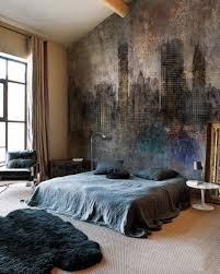 How To Paint A Mural On A Bedroom Wall Boho Bedroom With Industrial Painting  On The Wall Via Pixer