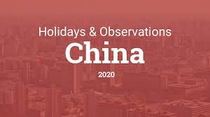 Chinese Calendar January 2020 Holidays And Observances In China In 2020