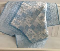 18 mejores imágenes de Toole quilt en Pinterest & Baby Quilt Featuring Summertime Toile in Baby Blue and White on Etsy,  $169.99 Adamdwight.com
