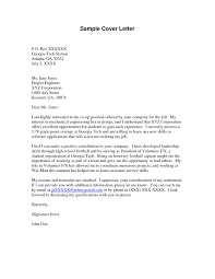45 Cover Letter For A Volunteer Position Volunteer Cover Letter