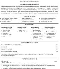 Sample Resume For Ccna Certified Download Junior Network Engineer