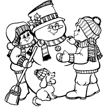 Small Picture smilling snowman coloring pages vector of a cartoon sledding