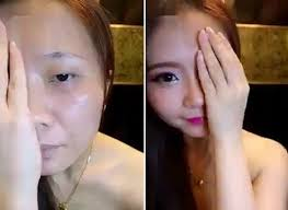 south korean women s video of half face makeup is hot on social a before