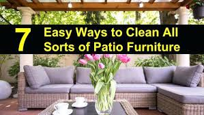 astounding 7 easy ways to clean outdoor furniture how patio