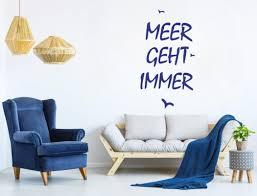 Meer Geht Immer Wandtattoo Deko Spruch Maritim Mit Vögeln I Love