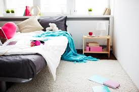 Download Girls Messy Bedroom Stock Image. Image Of Blanket, Messy   87506973