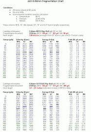 Bullet Charts Rifle M4 Carbine Reloading Ammo Guns
