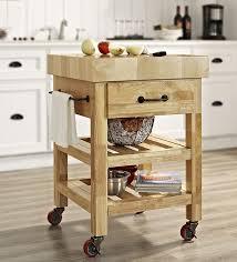 kitchen butcher block cart new with 2 hsubili com