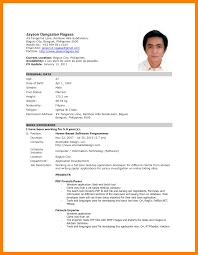 11 Format Of Resume In Philippines Good New World