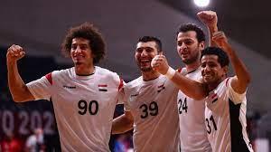 منتخب مصر لليد يفوز على البحرين ويتأهل إلى ربع نهائى طوكيو 2020 - فى الملعب
