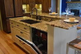 Elegant Kitchen Sink Dishwasher #3   Kitchen Islands With Seating Sink And  Dishwasher Images