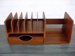a hans wegner danish teak wood desk organizer c 1960 s