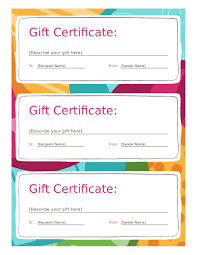 Fillable Certificates Personalized Gift Certificates Template Free 2018 Gift Certificate