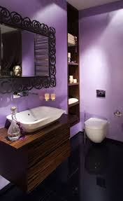 apartment bathroom colors. bathroom attractive apartment decor idea with gorgeous lavender color small design vessel sink on wooden wall shelf and colors l