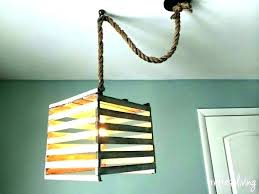 chandelier chain cover fabric cord covers burlap how to make a hanging light with decorating home