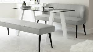 leather modern bench set