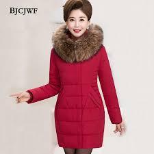 <b>BJCJWF</b> Women's <b>Down</b> Jacket Raccoon Fur Hooded Long Slim ...