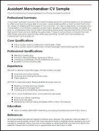 Merchandising Resume Samples Retail Merchandiser Resume Sample