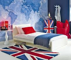View in gallery Colorful British themed kids' room