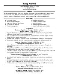customer experience manager resume sample manager resumes samples