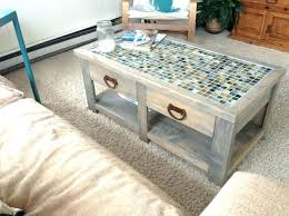 diy coffee table with drawers tile coffee table with two drawers storage and far rug sofa diy coffee table