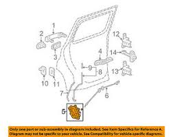 chevrolet gm oem hhr rear door lock or actuator latch image is loading chevrolet gm oem 06 11 hhr rear door