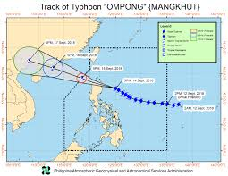 Typhoon Tracking Chart Typhoon Ompong On Track For Landfall Early On September 15
