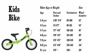 Bmx Size Chart Kids Bike Size Guide Kids Bike Sizes Bmx Bikes Kids Bike