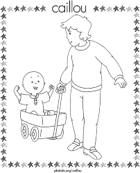 Caillou Coloring Pages Dad With Caillou Pbs Kids