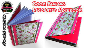 Bindery Art Youtube Diy Book Notebook With - Decorated Binding Creativity 134