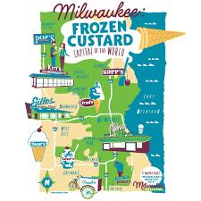 Culver Design Milwaukee Maps By Scottmilwaukee Custard Maps By Scott