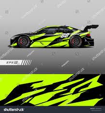 Automotive Graphic Design Jobs Racing Car Wrap Design Vector Graphic Abstract Stripe