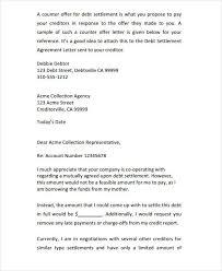 Counter Settlement fer Letter