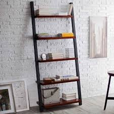 Bookshelf, Outstanding Ladder Shelves Ikea Wall Bookshelves Black And Dark  Brown Shelves With Books: ...