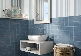 Tile By Design Maiolica Blue Steel Ceramic Wall Tile By Roca Wall Tiles