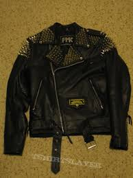 leather studded battle jacket