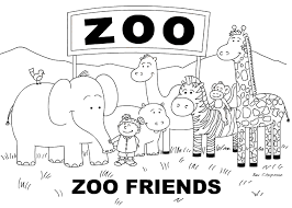 Small Picture Coloring Page Coloring Pages Of Zoo Animals For Preschool