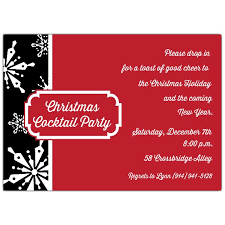 Christmas Holiday Invitations Holiday Snowflakes Black And Red Christmas Invitations