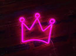 neon blue aesthetic crown novocom top
