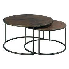 inspirational round nesting coffee table home decor bronze set
