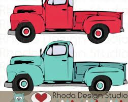 cute truck clipart vintage - Clipground