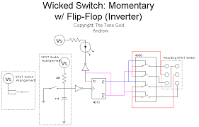 the tone god wicked switches Dpdt Momentary Switch Schematic there are a few advantages of using momentary switches it can be a footswtich (carling, arrow, mode, etc ), a \