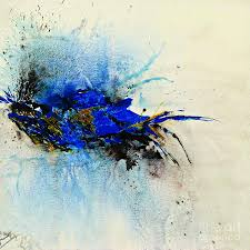magic painting magical blue abstract art by ismeta gruenwald