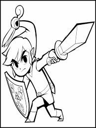 Zelda Kleurplaat Printen 7
